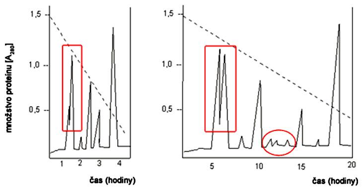 Chromatogram na vysvetlenie rozlišovacej schopnosti