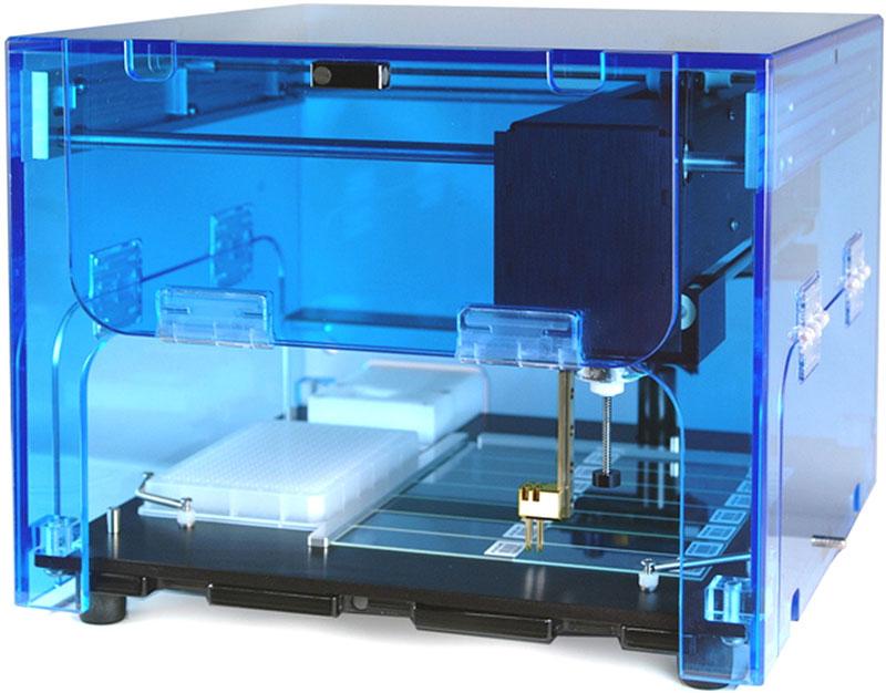 Prístroj na výrobu DNA čipov